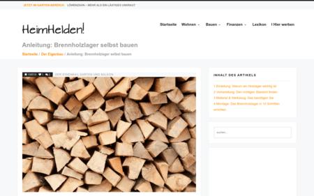 Anleitung Brennholzlager Selbst Bauen