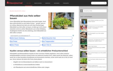 Pflanzkübel aus Holz selber bauen - Bauanleitung für Pflanzkasten