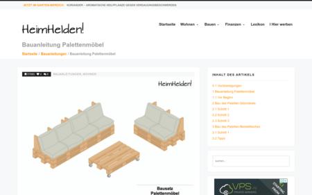 Bauanleitung Palettenmöbel - Bauanleitung für Möbel