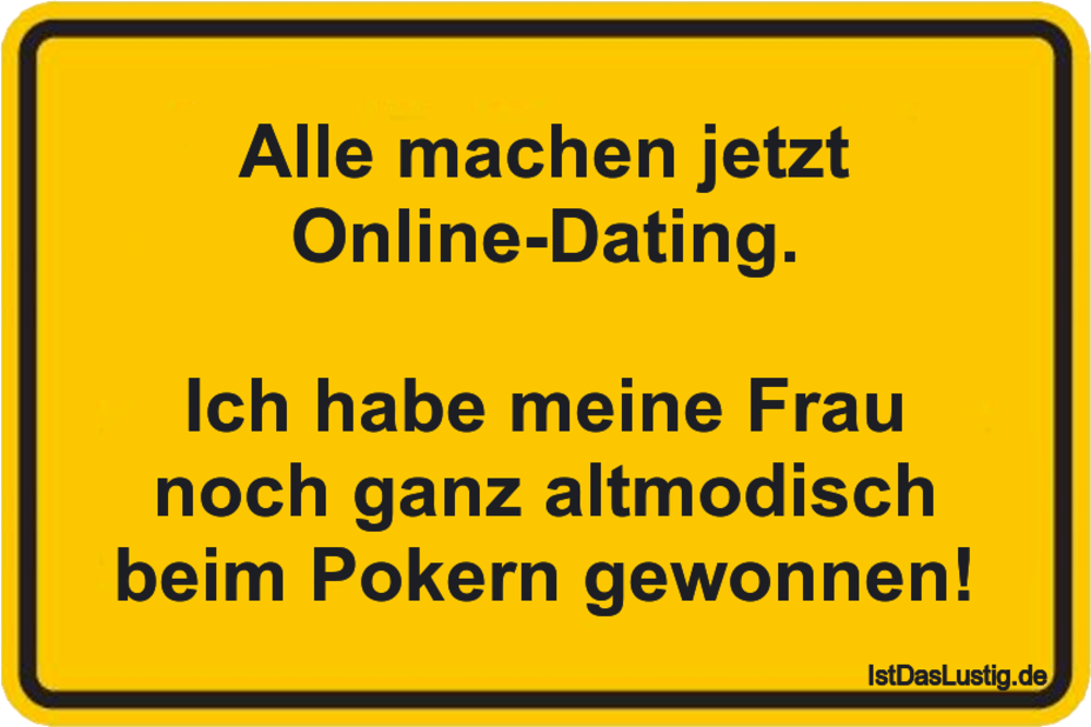 sprüche online dating