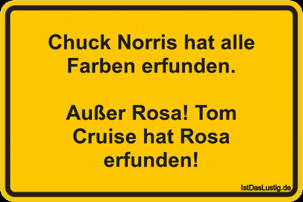 Lustiger BilderSpruch - Chuck Norris hat alle Farben erfunden.  Außer...