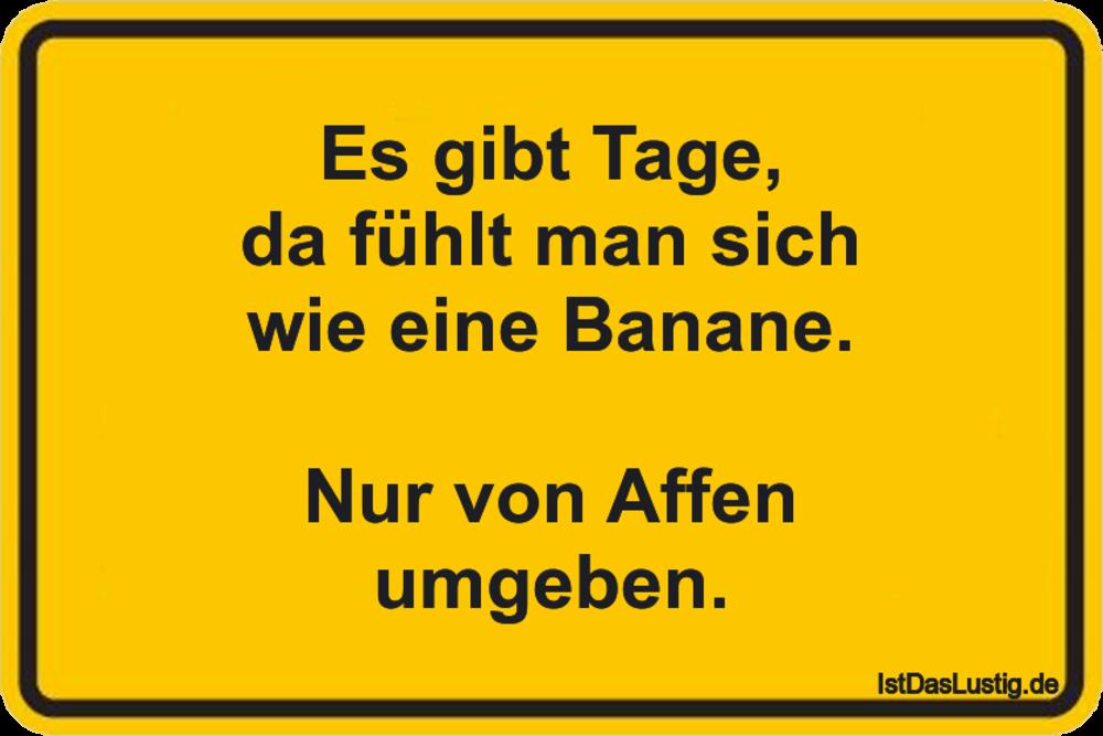 Lustiger BilderSpruch - Es gibt Tage, da fühlt man sich wie eine Banane...