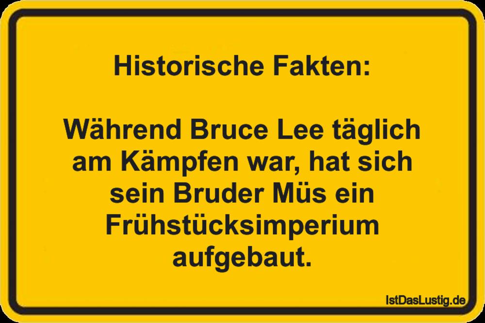 Lustiger BilderSpruch - Historische Fakten:  Während Bruce Lee täglich...