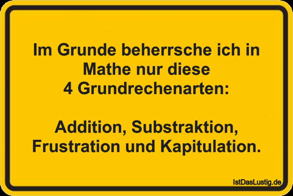 Die besten 18+ Mathe Sprüche auf IstDasLustig.de