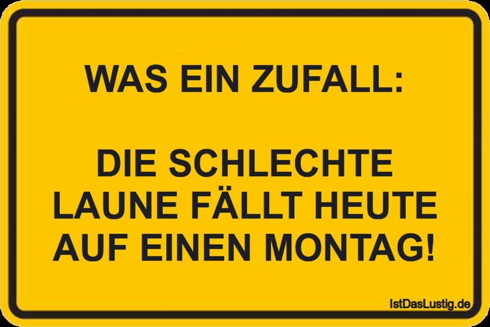 Lustiger BilderSpruch - WAS EIN ZUFALL:  DIE SCHLECHTE LAUNE FÄLLT HEUT...
