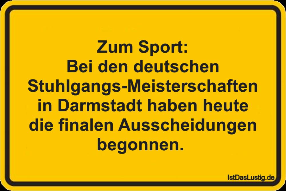 Lustiger BilderSpruch - Zum Sport: Bei den deutschen...