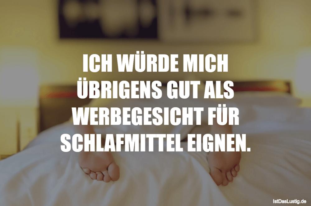 Lustiger BilderSpruch - ICH WÜRDE MICH ÜBRIGENS GUT ALS WERBEGESICHT FÜ...