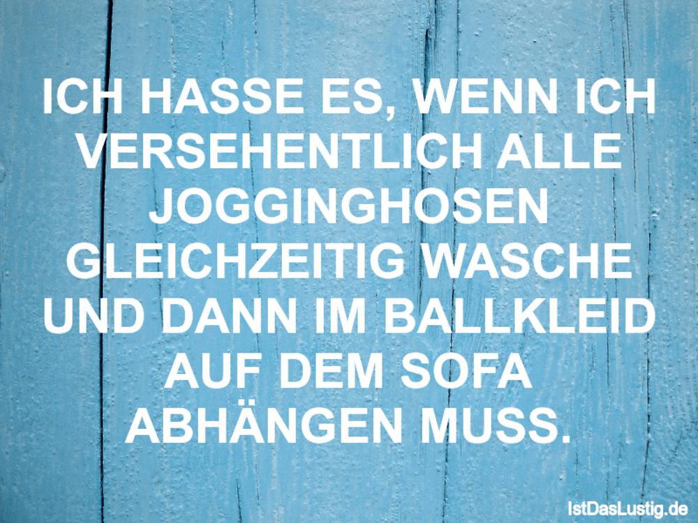 Lustiger BilderSpruch - ICH HASSE ES' WENN ICH VERSEHENTLICH ALLE JOGGI...