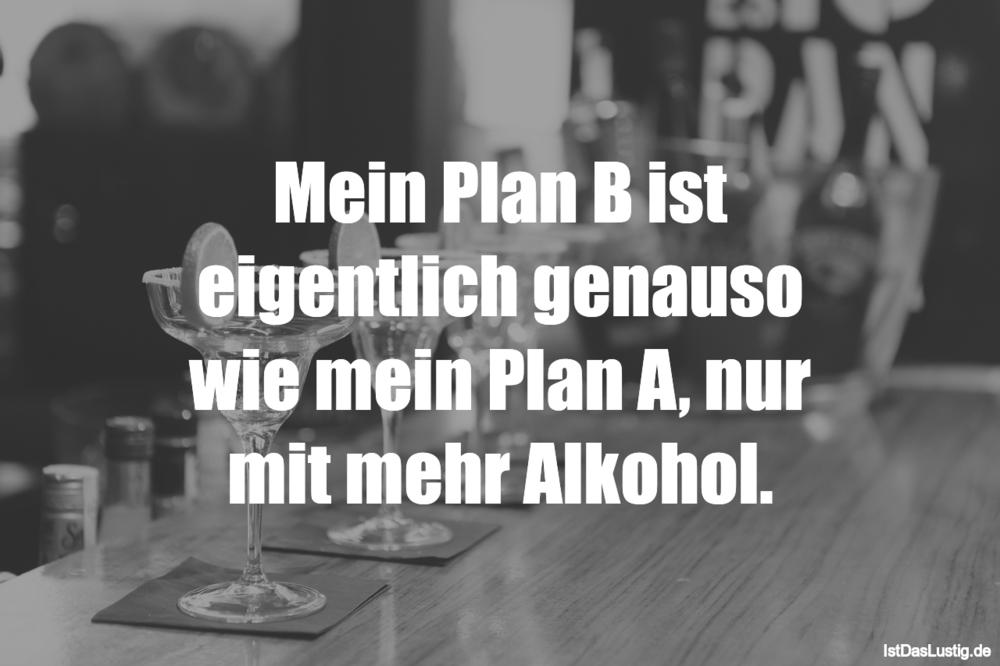 Lustiger BilderSpruch - Mein Plan B ist eigentlich genauso wie mein...