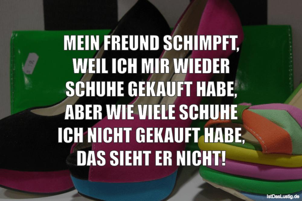 Lustiger BilderSpruch - MEIN FREUND SCHIMPFT, WEIL ICH MIR WIEDER...