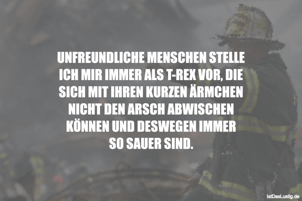 Lustiger BilderSpruch - UNFREUNDLICHE MENSCHEN STELLE ICH MIR IMMER ALS...