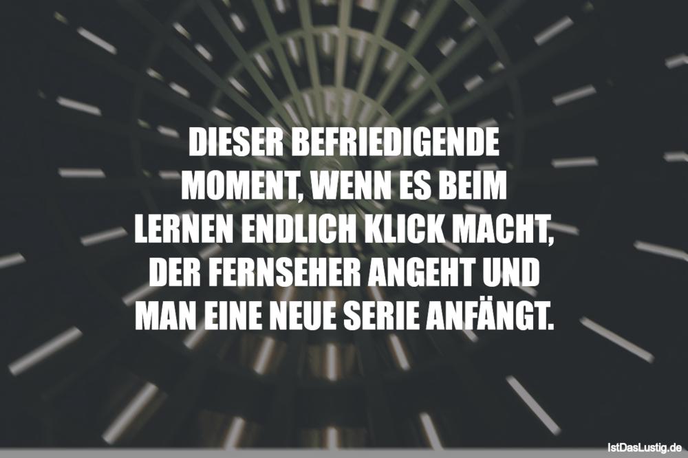 Lustiger BilderSpruch - DIESER BEFRIEDIGENDE MOMENT, WENN ES BEIM...