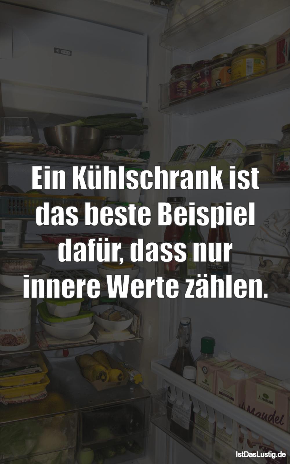 Lustiger BilderSpruch - Ein Kühlschrank ist das beste Beispiel dafür,...