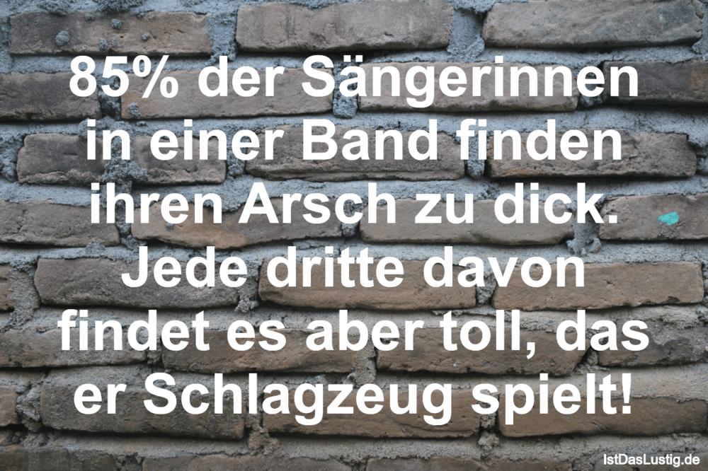 Lustiger BilderSpruch - 85% der Sängerinnen in einer Band finden ihren...