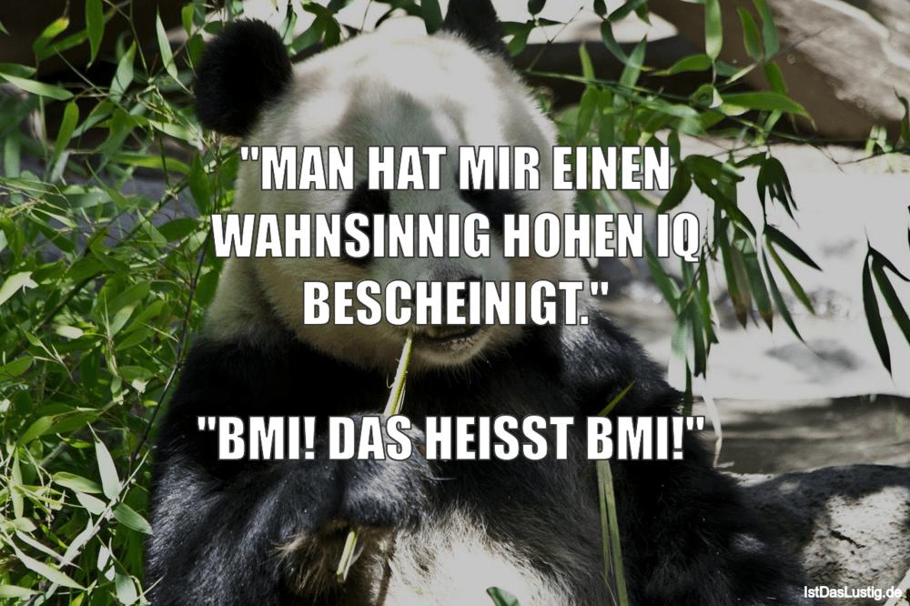 """Lustiger BilderSpruch - """"MAN HAT MIR EINEN WAHNSlNNIG HOHEN IQ..."""