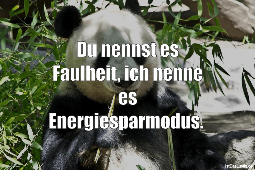 Du nennst es Faulheit, ich nenne es Energiespar   IstDasLustig.de