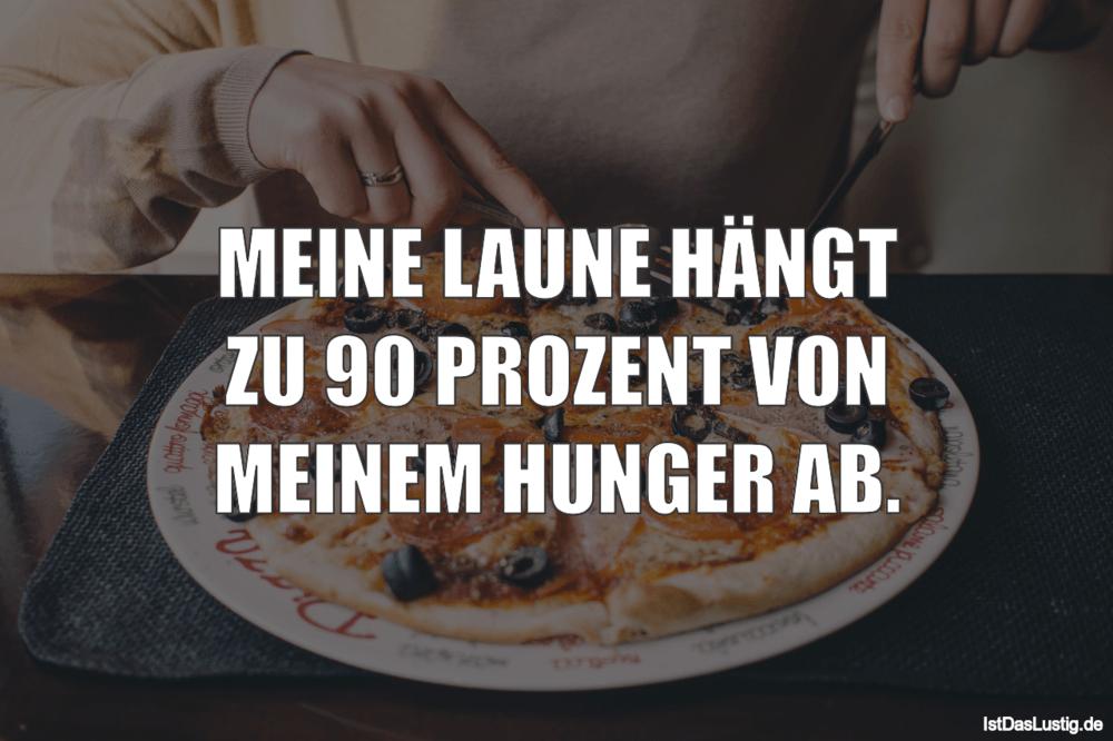 Lustiger BilderSpruch - MEINE LAUNE HÄNGT ZU 90 PROZENT VON MEINEM HUNG...
