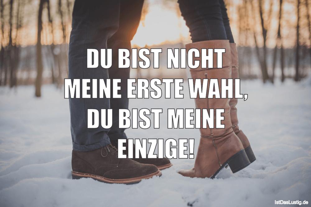 Lustiger BilderSpruch - DU BIST NICHT MEINE ERSTE WAHL, DU BIST MEINE E...
