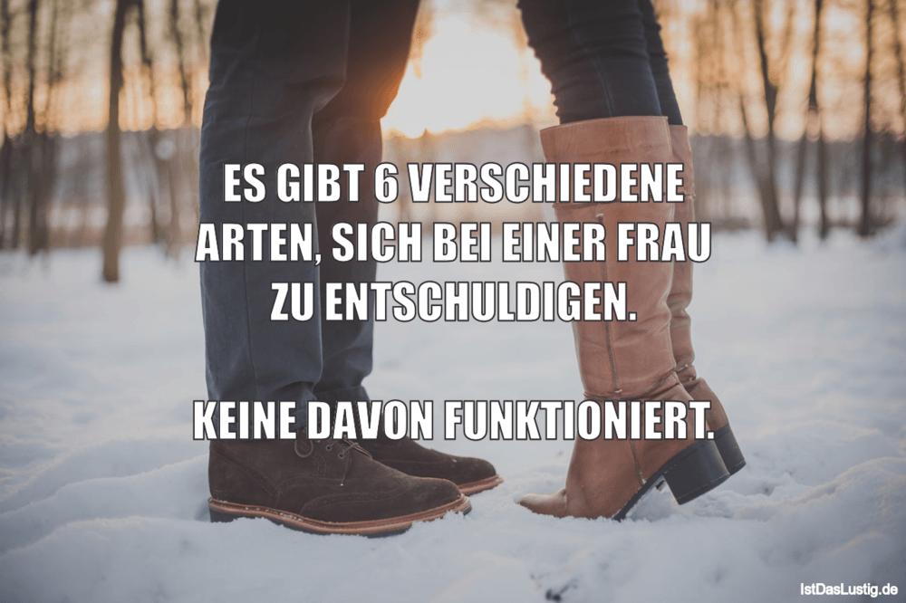 Lustiger BilderSpruch - ES GIBT 6 VERSCHIEDENE ARTEN, SICH BEI EINER...