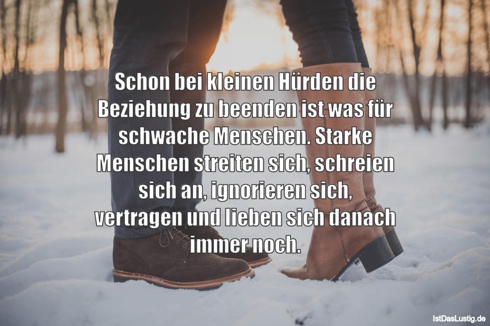 Schon bei kleinen Hürden die Beziehung zu beend - IstDasLustig.de