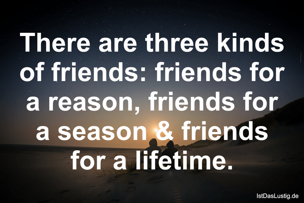 Lustiger BilderSpruch - There are three kinds of friends: friends for a...