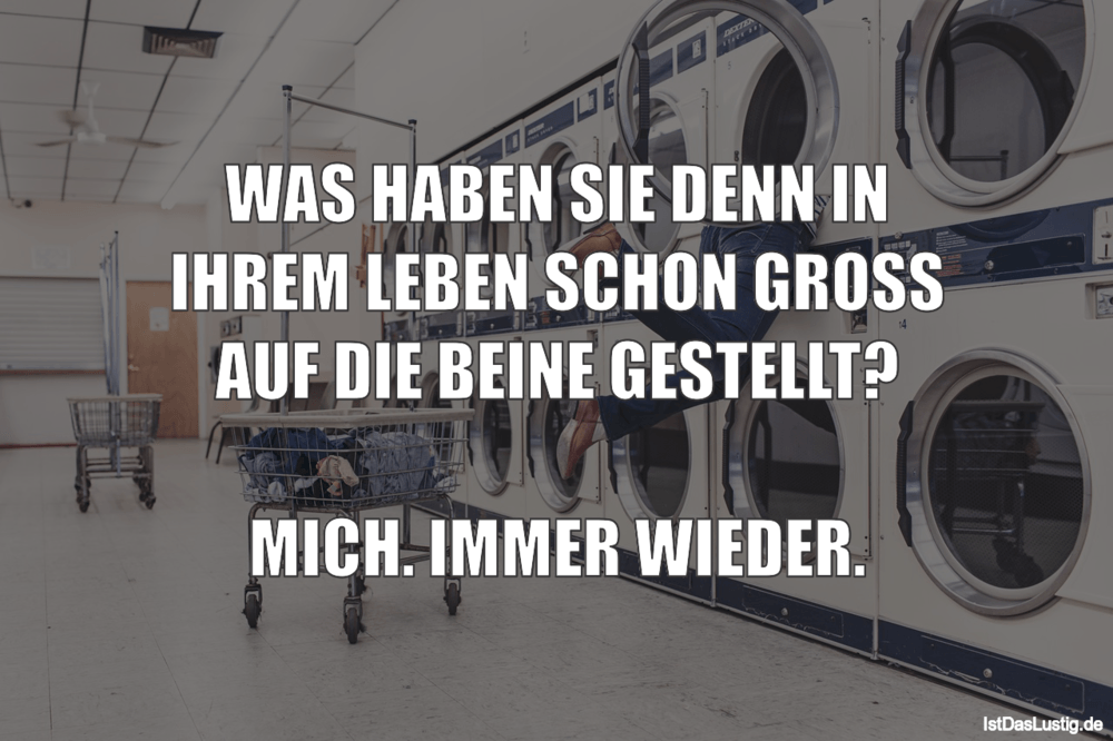 Lustiger BilderSpruch - WAS HABEN SIE DENN IN IHREM LEBEN SCHON GROSS...
