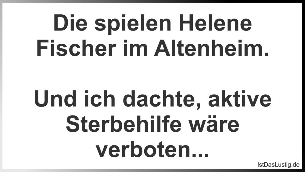Die Spielen Helene Fischer Im Altenheim Und I Istdaslustig De