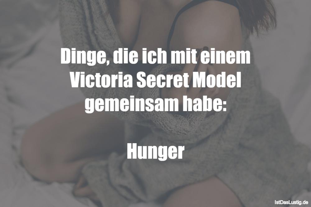 Lustiger BilderSpruch - Dinge, die ich mit einem Victoria Secret Model...